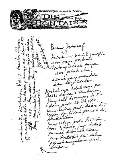 Tulisan-tangan Pram